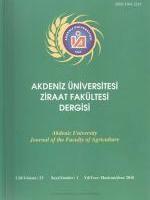 Akdeniz Üniversitesi Ziraat Fakültesi Dergisi